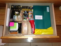 An InStep Drawer has plenty of storage for desk accessories