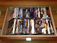 An InStep Drawer manages your DVD;s having them close-by when you want them and easy to put away when you are done