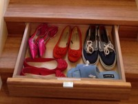 An InStep Drawer provides storage space for your shoes